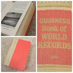 Vintage 1974 Guinness Book of World Records Book